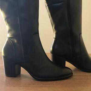 f01bf86c Ecco Shape 55 Black High Heel Tall Boot Size 42 NWT